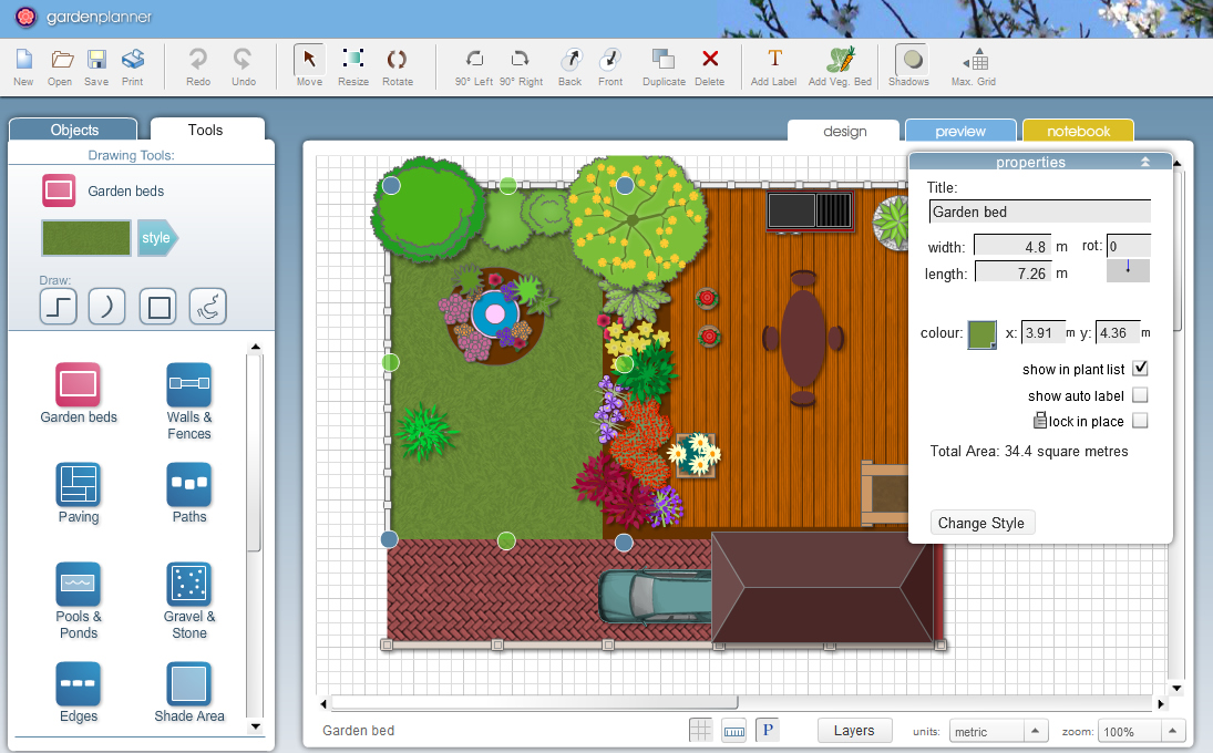 Garden planner for windows 7 lets you easily design your for Garden design windows 7