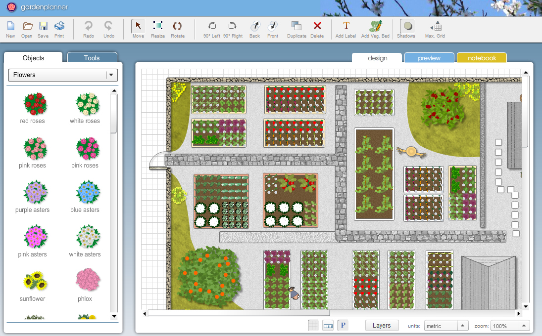 Garden planner for windows 7 lets you easily design your for Garden planner 3